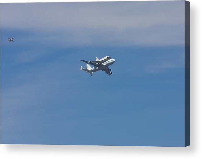 Nasa Acrylic Print featuring the photograph Shuttle Endeavour Final Journey by Will Cornell