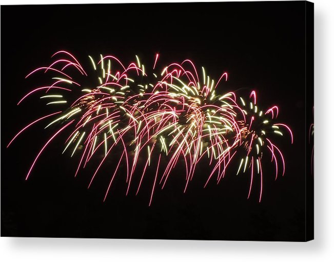 Fireworks Acrylic Print featuring the photograph Sky Art by Red Cross