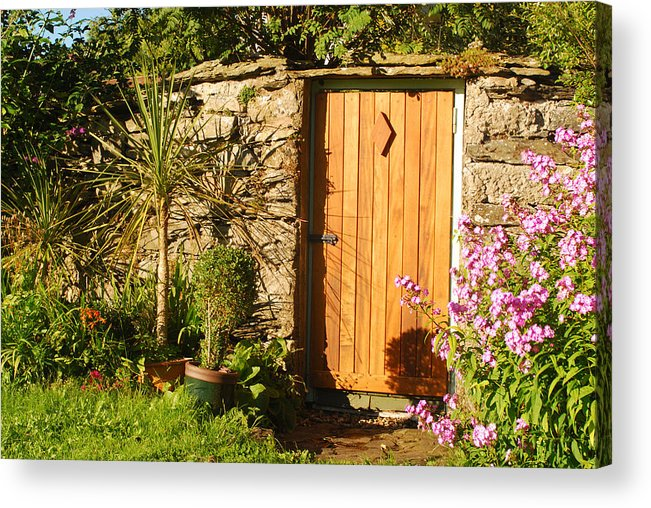 Cartmel Acrylic Print featuring the photograph Sunlit Doorway by Peter Jenkins