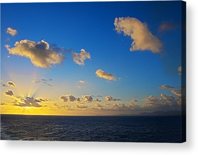 Sunset Acrylic Print featuring the photograph Sunset Over The Caribbean Sea by Keith Allen