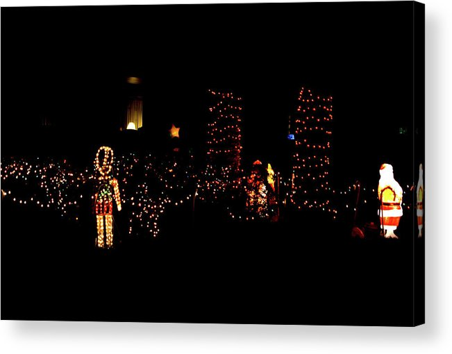 Japanese Acrylic Print featuring the photograph Teakwood Island Toy Soldier To Standing Santa by John Wright