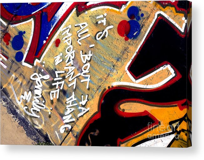 Life Acrylic Print featuring the photograph The Berlin Wall 4 by Mark Azavedo