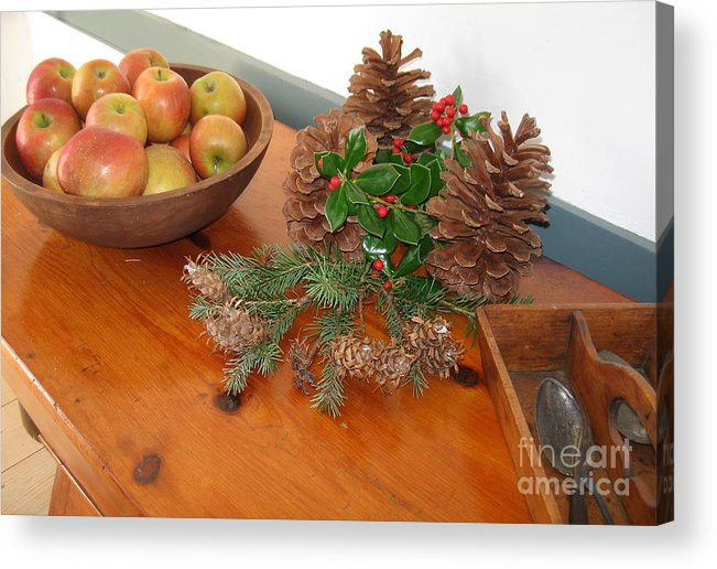 Apples. Bowl Of Apples Acrylic Print featuring the photograph The Fragrance Of Christmas by Nancy Patterson