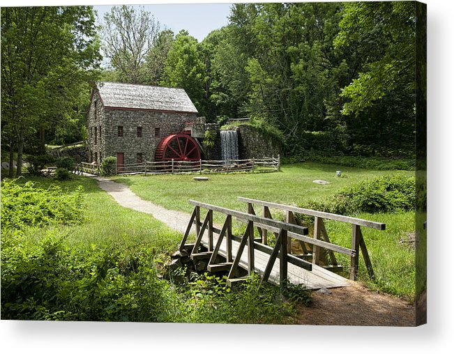 Grist Mill Acrylic Print featuring the photograph The Grist Mill by Lee Fortier