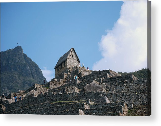 Peru machu Picchu Machu Picchu Andes Inca Acrylic Print featuring the photograph The Guardhouse by Harvey Barrison