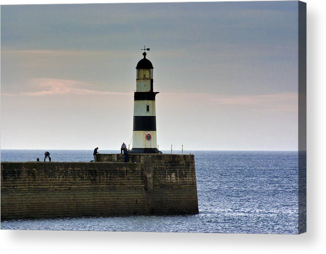 Seaham Acrylic Print featuring the photograph The Light Seaham Harbour by Trevor Kersley