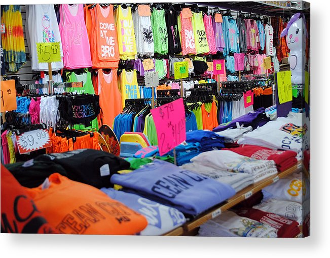 Fair Acrylic Print featuring the photograph T's by Skip Willits