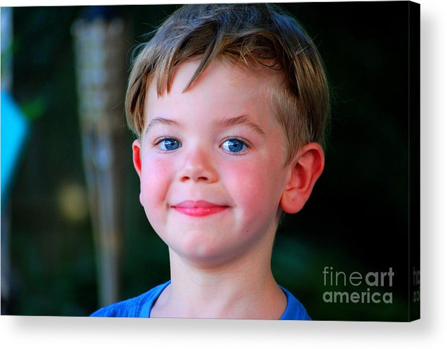 Tyler Acrylic Print featuring the photograph Tyler by Monica Poole