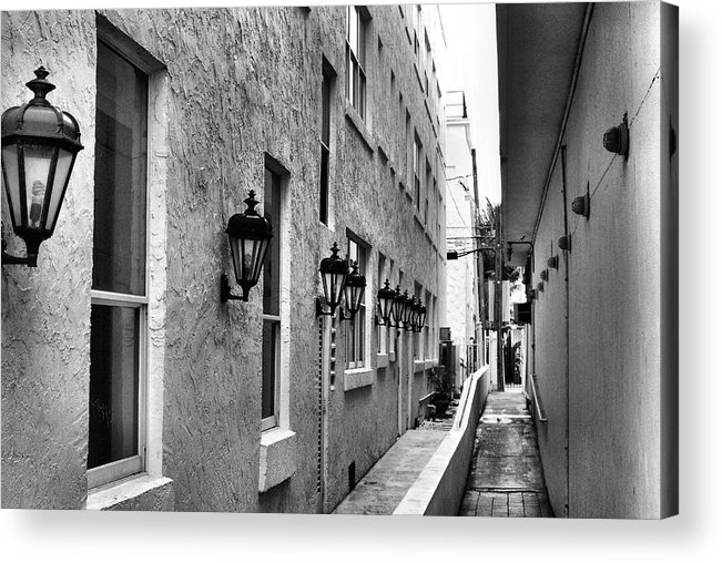 Bob Wall Acrylic Print featuring the photograph Up An Alley by Bob Wall