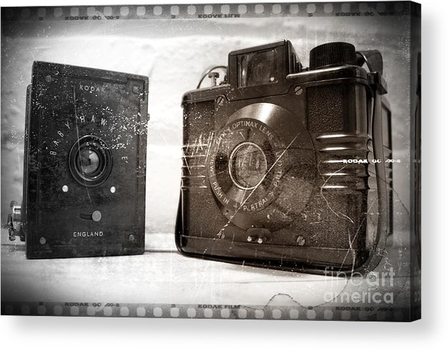 Vintage Acrylic Print featuring the photograph Vintage Cameras by Stephen Clarridge