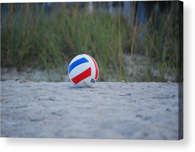 Beach Acrylic Print featuring the photograph Volleyball On The Beach by Carrie Munoz