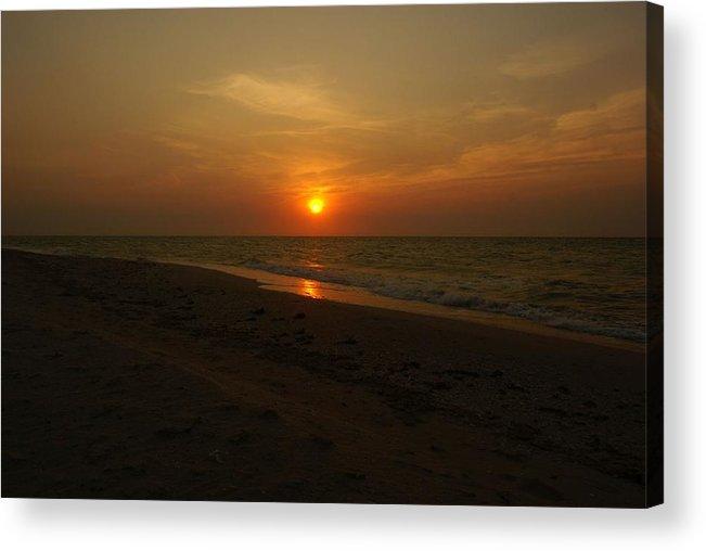 Digital Photo Acrylic Print featuring the photograph Yukatan Sunset by Christy Leigh