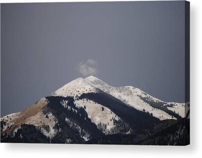 Mountain Acrylic Print featuring the photograph Snowy Volcano by Jon Rossiter