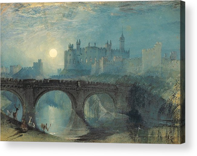 Architectural Acrylic Print featuring the painting Alnwick Castle by JMW Turner