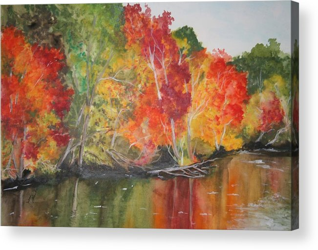 Autumn Acrylic Print featuring the painting Autumn Splendor by Jean Blackmer