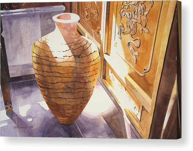 Still Life Acrylic Print featuring the painting Celestial Hall Pottery II by Melody Cleary