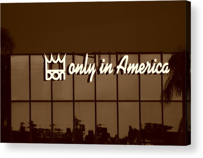 Sepia Acrylic Print featuring the photograph Don King Only In America by Rob Hans