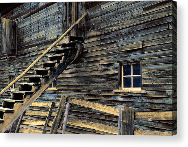 Architecture Acrylic Print featuring the photograph Golden Barn by Wayne Sherriff