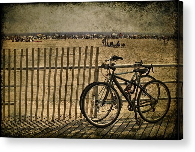 Fence Acrylic Print featuring the photograph Gone Swimming 1 by Evelina Kremsdorf