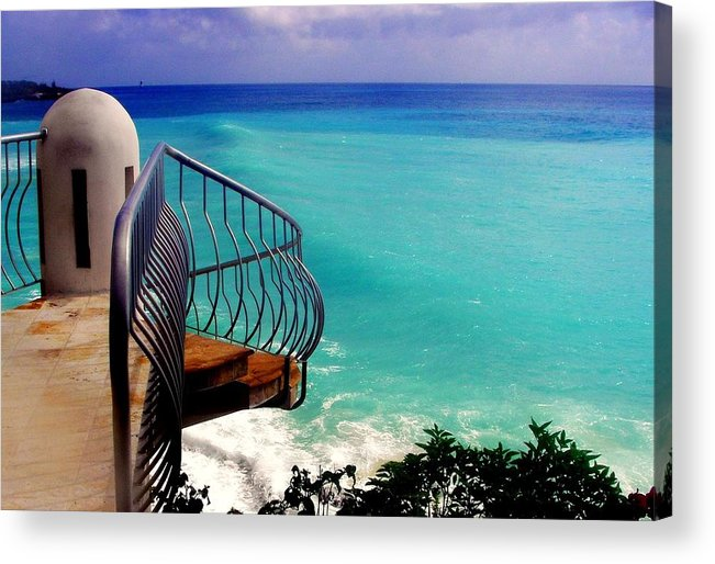 Seascapes Acrylic Print featuring the photograph On The Edge by Karen Wiles