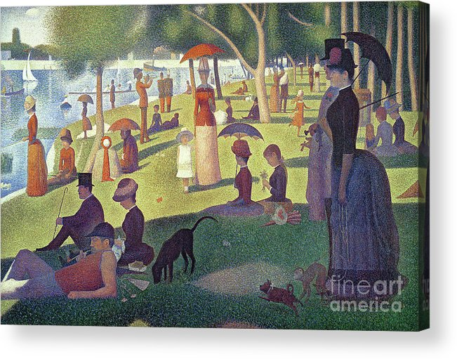 Sunday Afternoon On The Island Of La Grande Jatte Acrylic Print featuring the painting Sunday Afternoon On The Island Of La Grande Jatte by Georges Pierre Seurat
