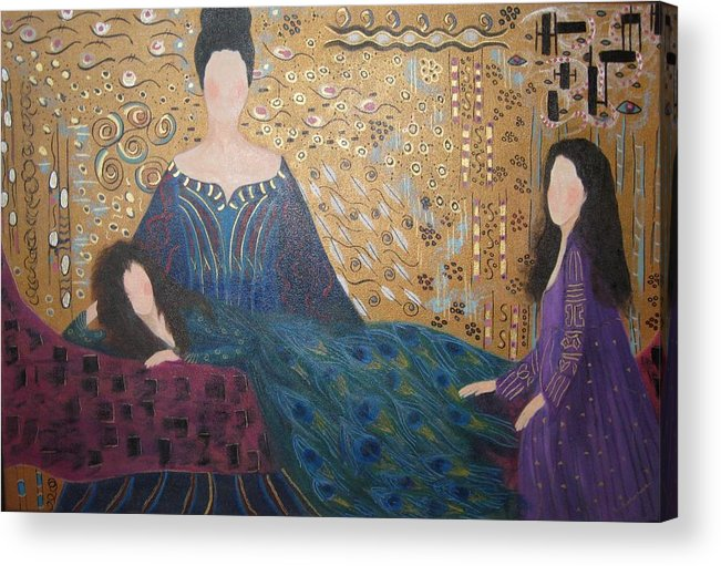 Figures Acrylic Print featuring the painting Vanity by Sheryl Sutherland