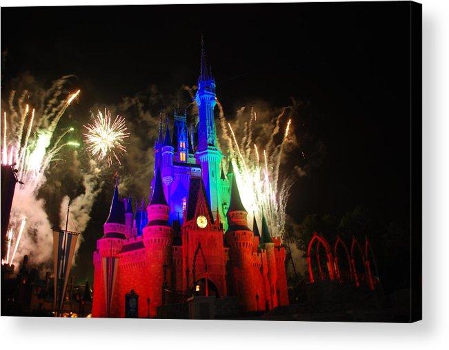 Walt Disney World Acrylic Print featuring the photograph Cinderella Castle by Rob Hans