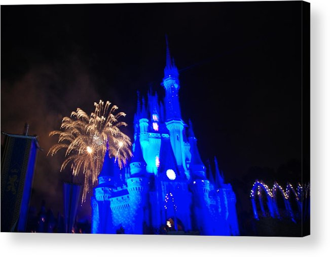 Walt Disney World Acrylic Print featuring the photograph Cinderella Castle by Rob Hans