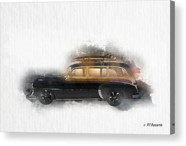 1949 Acrylic Print featuring the digital art 1949 Chevy Woody by RT Bozarth