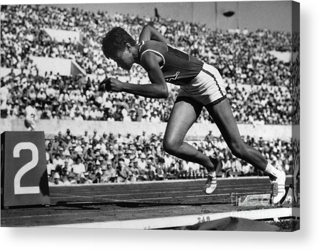 1960 Acrylic Print featuring the photograph Wilma Rudolph (1940-1994) by Granger