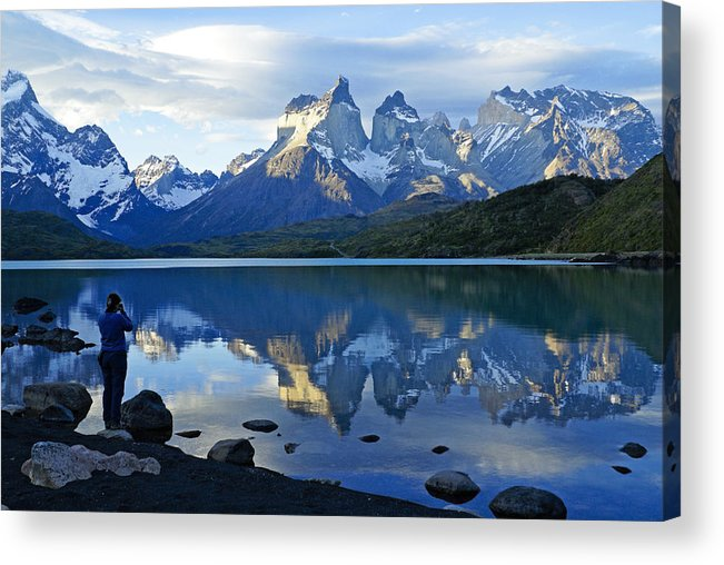 Patagonia Acrylic Print featuring the photograph Patagonia Reflection by Michele Burgess