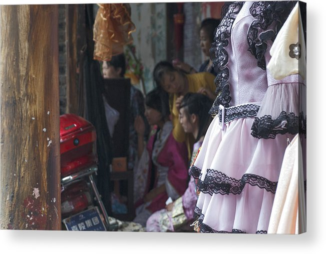 Asia Acrylic Print featuring the photograph 4399- Dress Up by David Lange