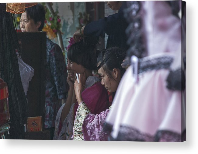 Asia Acrylic Print featuring the photograph 4400- Dress Up by David Lange