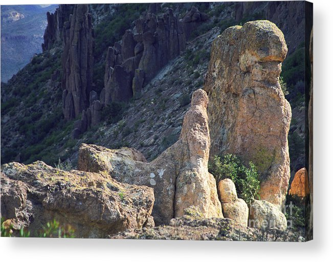 Rock Formations Acrylic Print featuring the photograph A Hard Ride by Kathy McClure