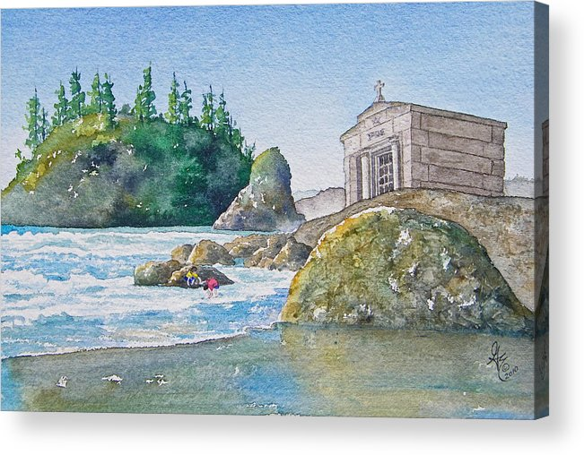 Ocean Acrylic Print featuring the painting A Kingdom By The Sea by Gale Cochran-Smith