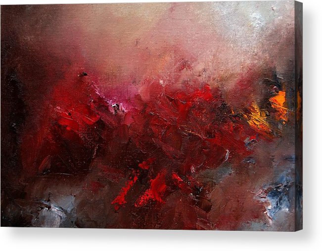Abstract Acrylic Print featuring the painting Abstract 056 by Pol Ledent