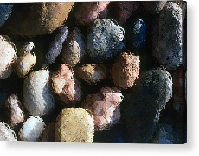 Rocks Acrylic Print featuring the photograph Abstract Of River Rocks 2 by Steve Ohlsen