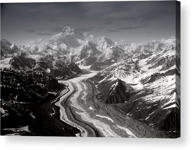 Glacier Acrylic Print featuring the photograph Alaska Range And Denali by Alasdair Turner