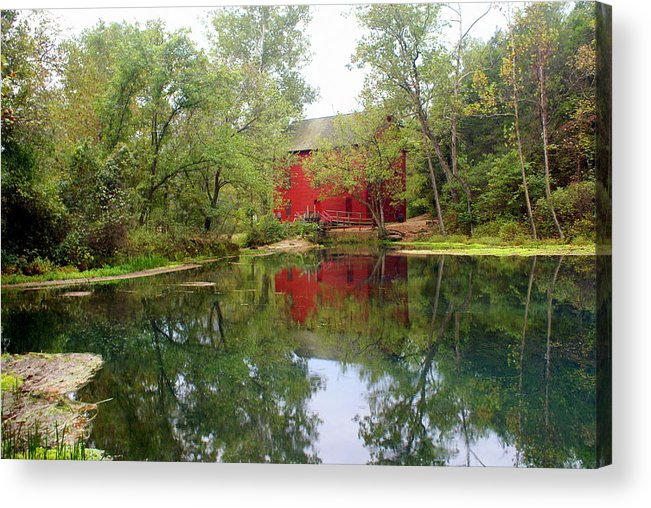 Mill Acrylic Print featuring the photograph Allsy Sprng Mill by Marty Koch