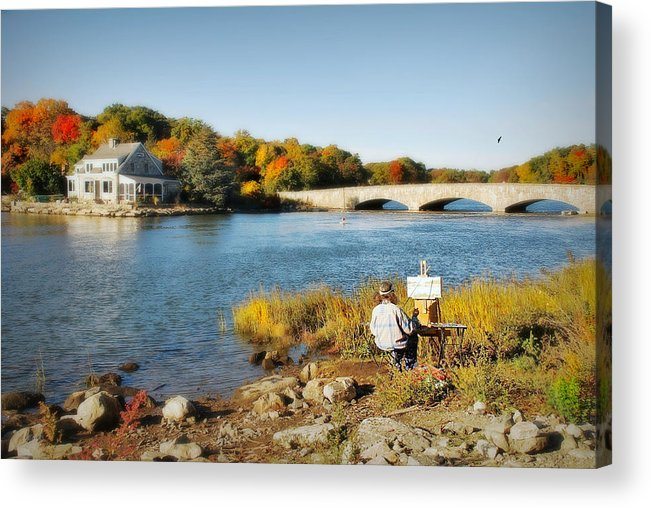 Landscape Composition Acrylic Print featuring the photograph An Artist's Rendering by Diana Angstadt