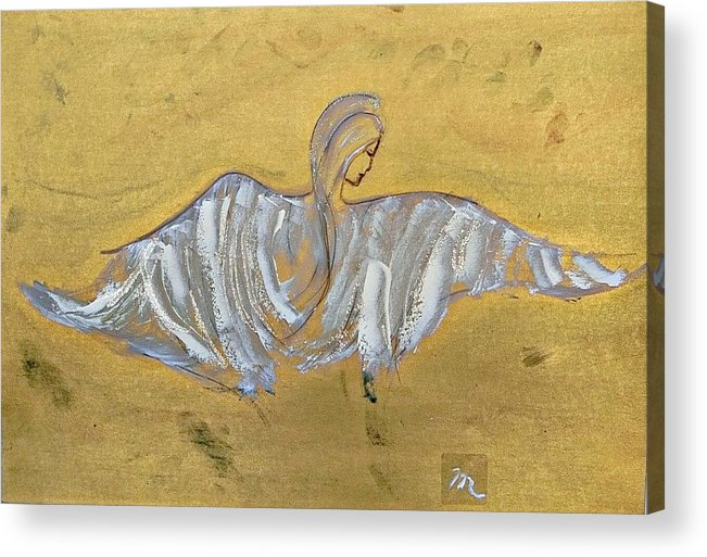 Angel Acrylic Print featuring the painting Angel Wings by Michela Akers