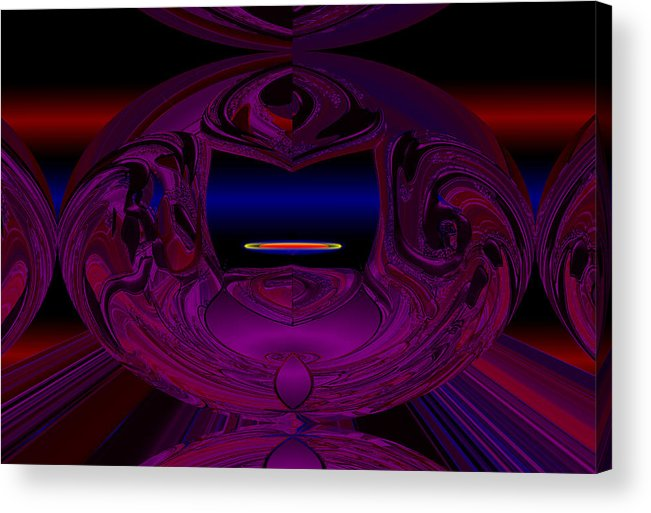 Anti Acrylic Print featuring the digital art Anti Gravity by XERXEESE Color Schemes