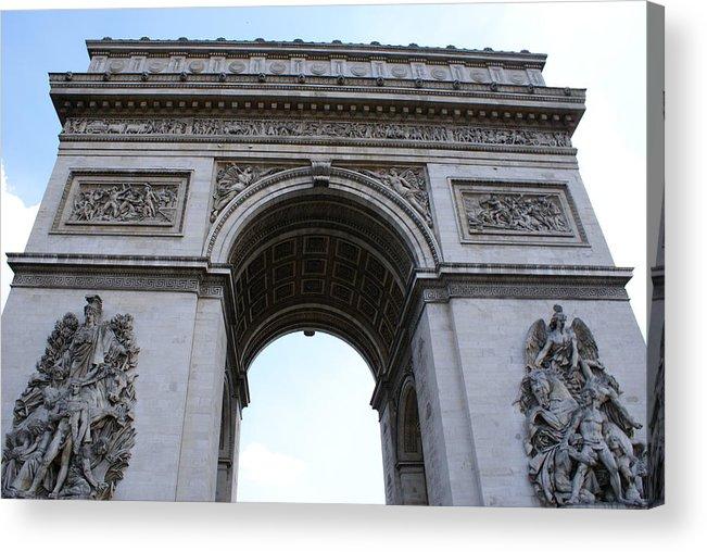 Arc De Triumph Acrylic Print featuring the photograph Arc De Triumph In Paris by Tracy Dugas