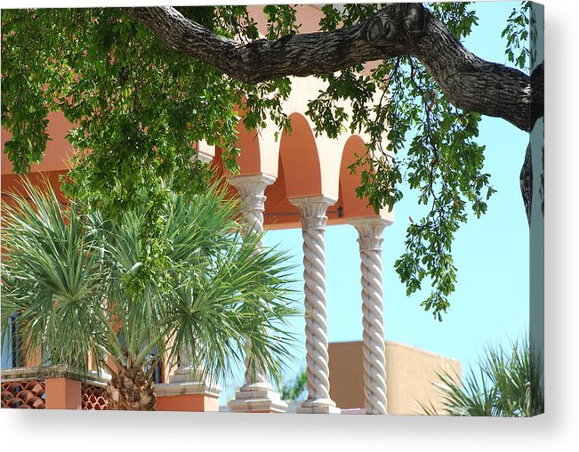 Architecture Acrylic Print featuring the photograph Arches Thru The Trees by Rob Hans
