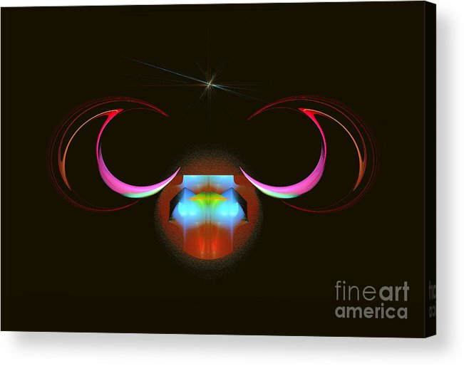 Sign Of Zodiac Acrylic Print featuring the painting Aries by Viktor Savchenko