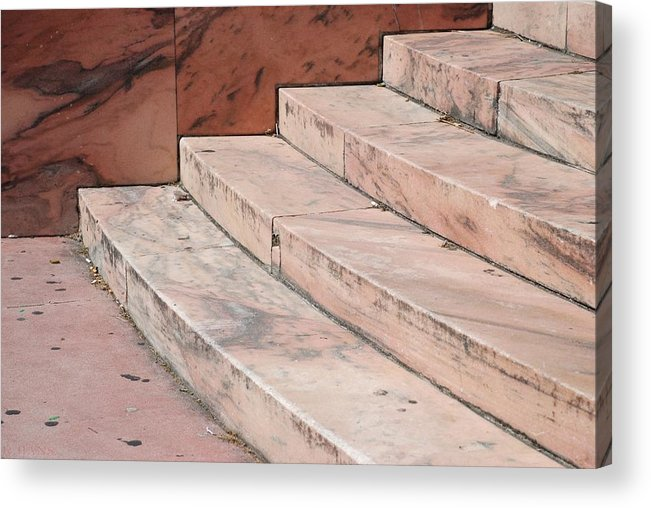 Architecture Acrylic Print featuring the photograph Art Deco Steps by Rob Hans