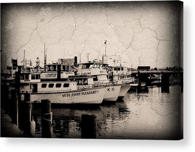 Jersey Shore Acrylic Print featuring the photograph At The Marina - Jersey Shore by Angie Tirado