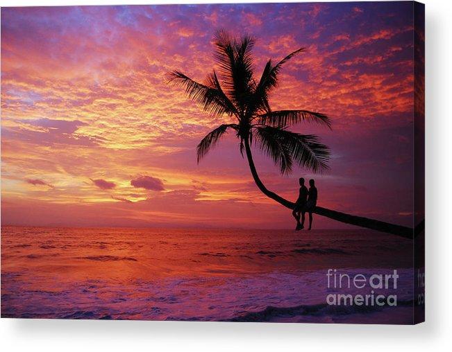 Amazing Acrylic Print featuring the photograph Atardecer En La Palmera Playa Blanca by Cesar Marino
