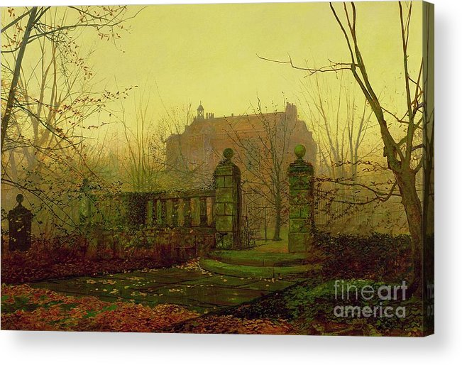 Autumn Acrylic Print featuring the painting Autumn Morning by John Atkinson Grimshaw
