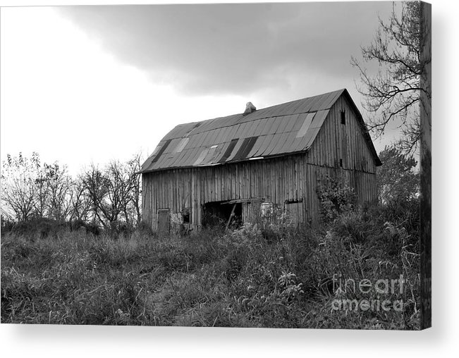 Barn Acrylic Print featuring the photograph Autumn Solitude II by Michelle Hastings